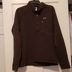 Men's Large Brown Patagonia 1/4 Zip